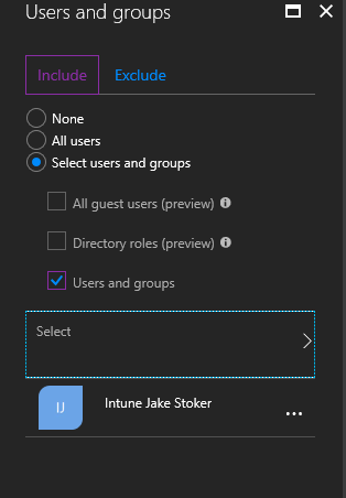 User and Groups