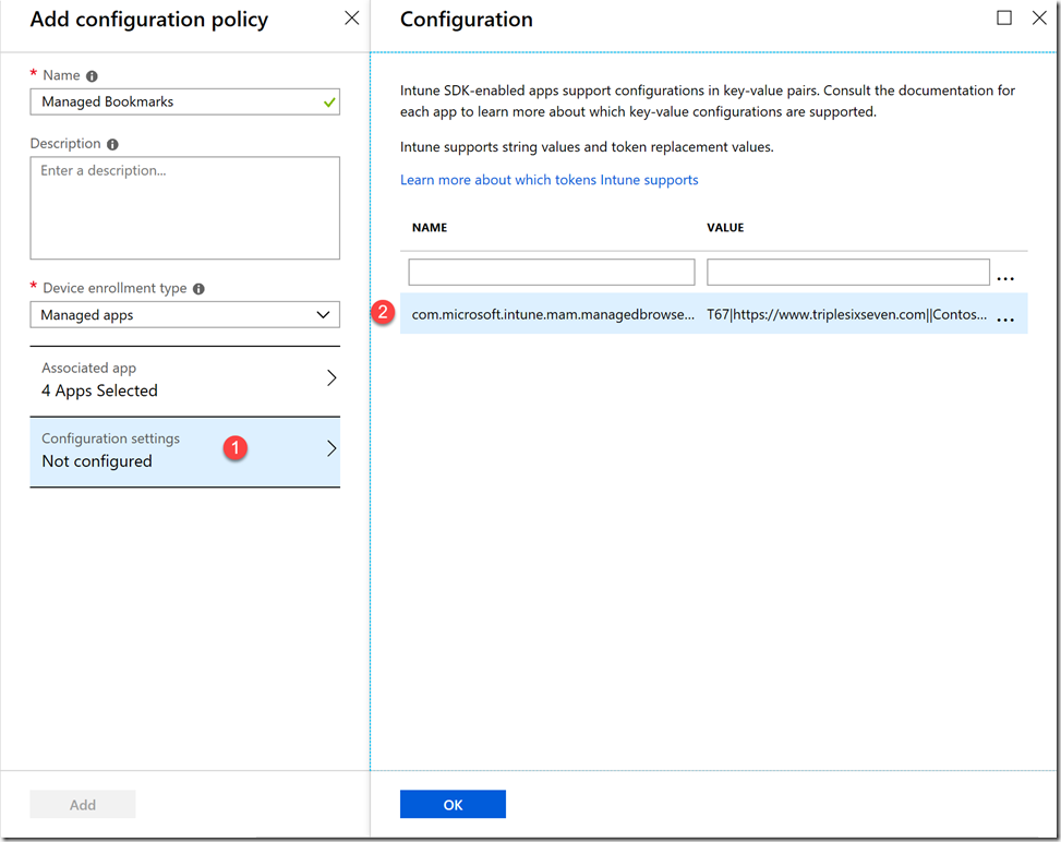 Deploying Bookmarks to Personal Devices - Intune - Triple